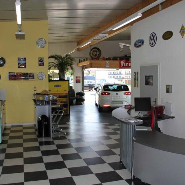 Unser Bar- und Ablieferbereich aus Eingangssicht aus den fabulous fifties
