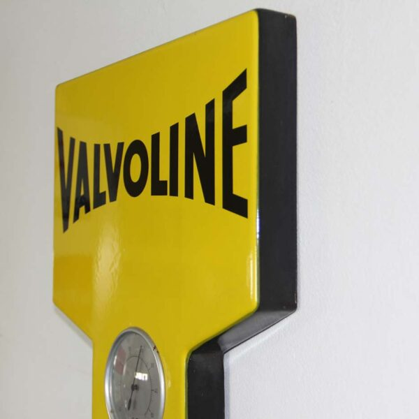 Originales Valvoline Emailschild mit Thermometer; fabulous fifties