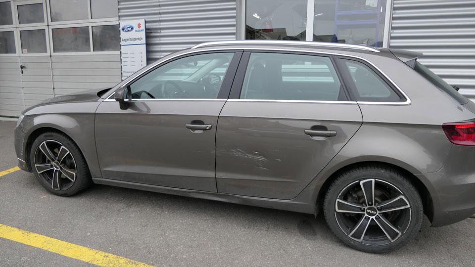 Carrosserie Reparatur Audi vorher
