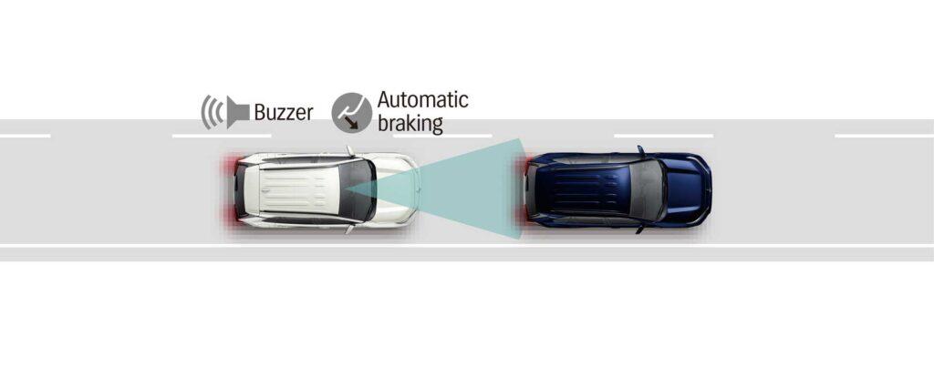 Das ist der Notbremsassistent des neuen Suzuki Across Plug-in Hybrid
