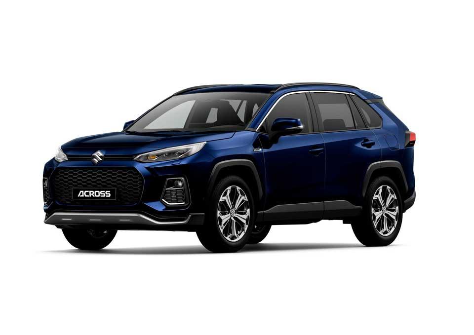 Der neue Suzuki Across Plug-in Hybrid in der Farbe blau metallic (Dark blue Mica 8X8)