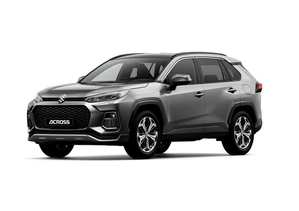 Der neue Suzuki Across Plug-in Hybrid in der Farbe dunkelgrau metallic (Gray Metallic 1G3)