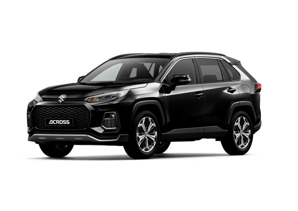 Der neue Suzuki Across Plug-in Hybrid in der Farbe schwarz metallic (Attitude Black Mica 218)
