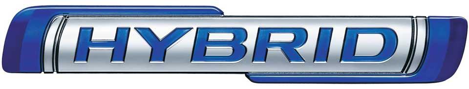 Hybrid-Schriftzug der Suzuki Hybrid Modelle